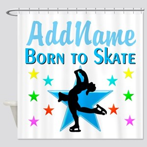 LIVE TO SKATE Shower Curtain