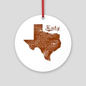 Katy, Texas (Search Any City!) Round Ornament