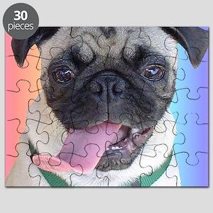 Cute Pug Rainbow Puzzle