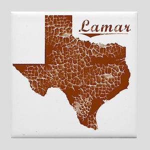Lamar, Texas (Search Any City!) Tile Coaster