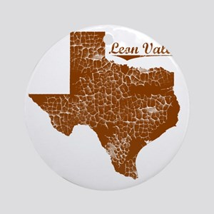 Leon Valley, Texas (Search Any City Round Ornament
