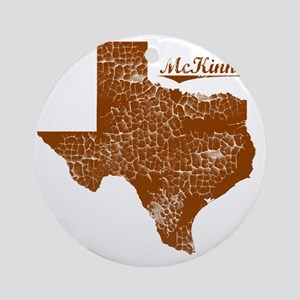 McKinney, Texas (Search Any City!) Round Ornament