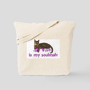 Tortie Love Tote Bag