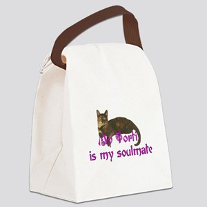 Tortie Love Canvas Lunch Bag