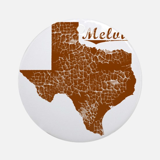 Melvin, Texas (Search Any City!) Round Ornament
