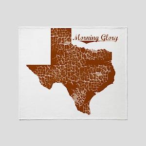 Morning Glory, Texas. Vintage Throw Blanket