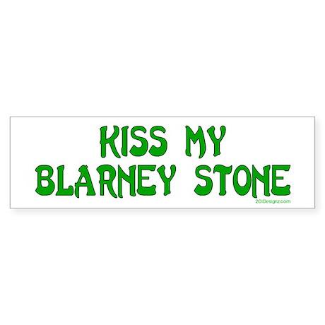 Kiss My Blarney Bumper Sticker