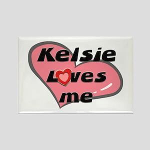 kelsie loves me Rectangle Magnet