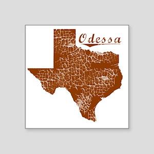 """Odessa, Texas (Search Any C Square Sticker 3"""" x 3"""""""
