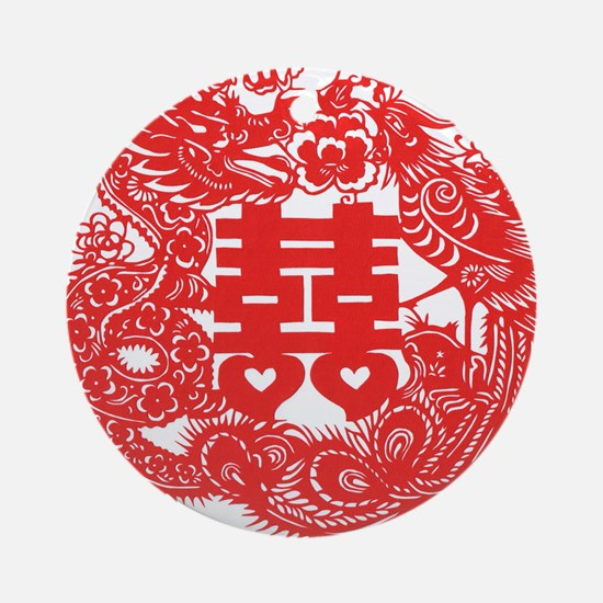 double_hapines.png Ornament (Round)