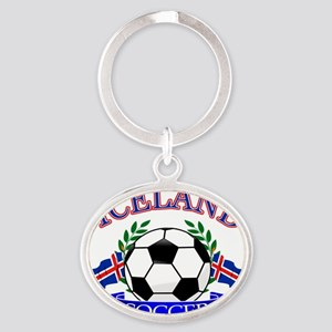 iceland complete  Oval Keychain