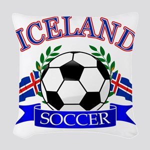 iceland complete  Woven Throw Pillow