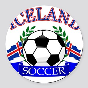 iceland complete  Round Car Magnet