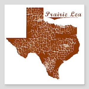"""Prairie Lea, Texas (Sear Square Car Magnet 3"""" x 3"""""""