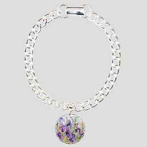 Romantic Ruffles Bathroo Charm Bracelet, One Charm