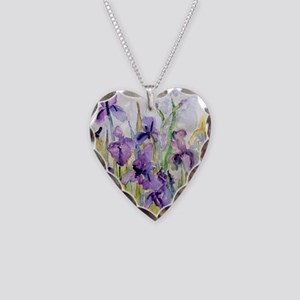 Romantic Ruffles Bathroom Necklace Heart Charm
