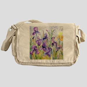 Romantic Ruffles Bathroom Messenger Bag