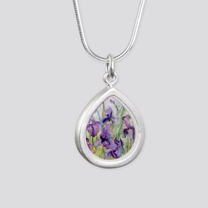 Romantic Ruffles Bathroo Silver Teardrop Necklace