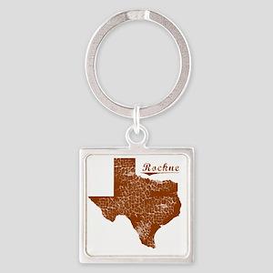 Rockne, Texas (Search Any City!) Square Keychain