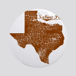 Sabine Pass, Texas (Search Any City Round Ornament