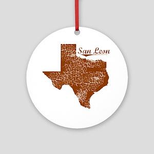 San Leon, Texas (Search Any City!) Round Ornament