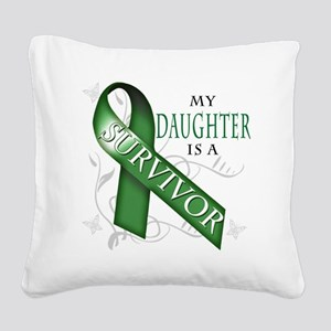 My Daughter is a Survivor (gr Square Canvas Pillow