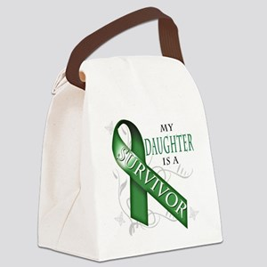 My Daughter is a Survivor (green) Canvas Lunch Bag