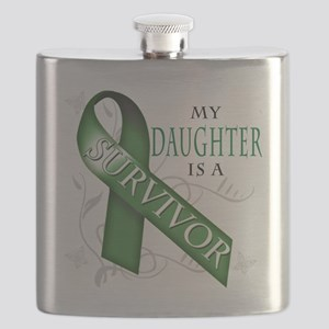 My Daughter is a Survivor (green) Flask