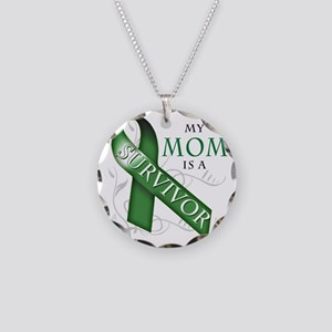 My Mom is a Survivor (green) Necklace Circle Charm