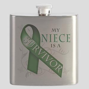 My Niece is a Survivor (green) Flask