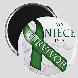My Niece is a Survivor (green) Magnet