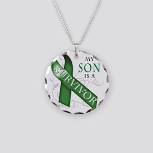 My Son is a Survivor (green) Necklace Circle Charm
