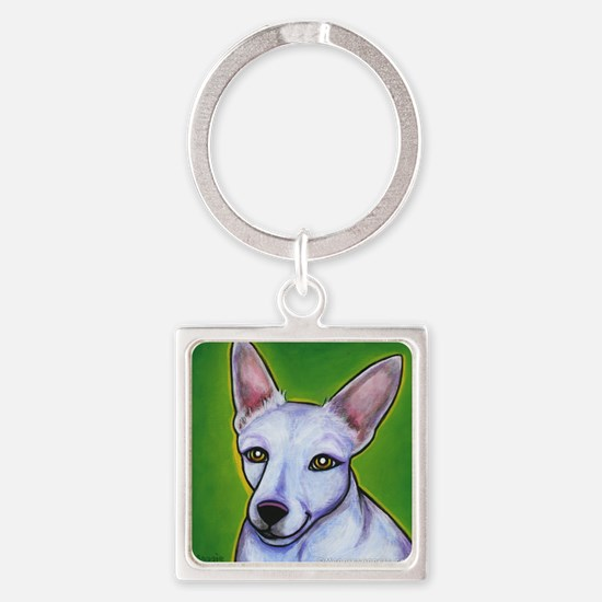 Jack Russell Terrier Madison Square Keychain