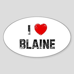 I * Blaine Oval Sticker