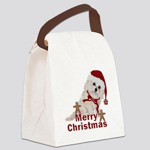Cockapoo Christmas Canvas Lunch Bag