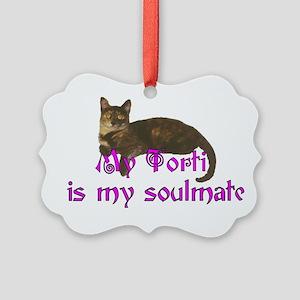 Tortie Love Picture Ornament