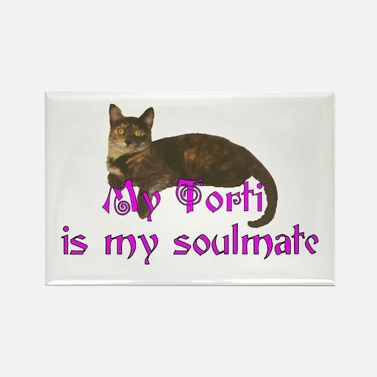 Tortie Love Rectangle Magnet