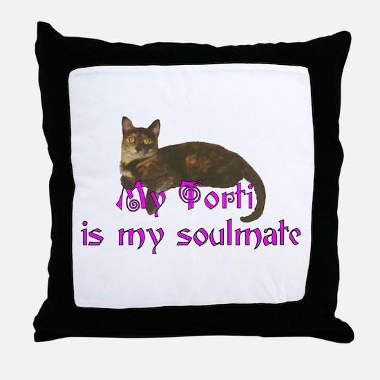 Tortie Love Throw Pillow