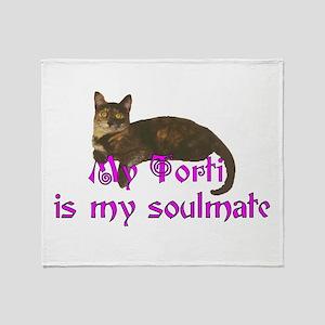Tortie Love Throw Blanket