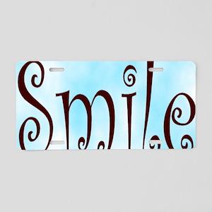 Smile stadium blanket Aluminum License Plate