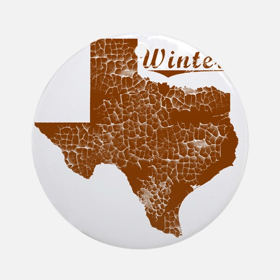 Winters, Texas (Search Any City!) Round Ornament