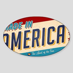 america Sticker (Oval)