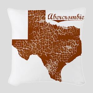 Abercrombie, Texas (Search Any Woven Throw Pillow