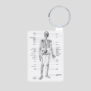 labeled skeleton Aluminum Photo Keychain