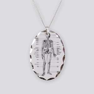 labeled skeleton Necklace Oval Charm