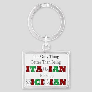 Italian Landscape Keychain