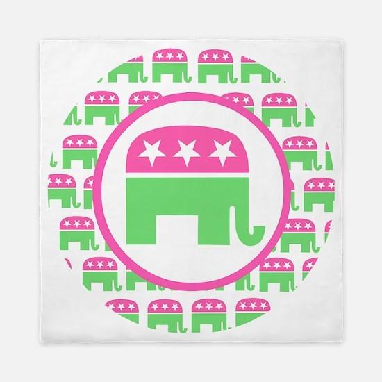 Pink and Green Republican Queen Duvet