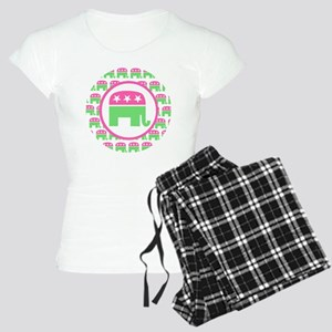 Pink and Green Republican Women's Light Pajamas