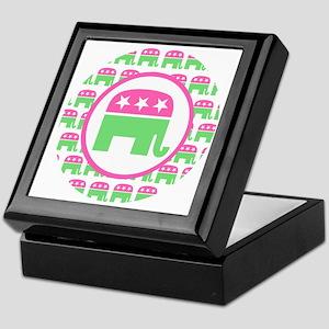 Pink and Green Republican Keepsake Box
