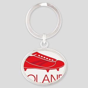Poland Footie Oval Keychain